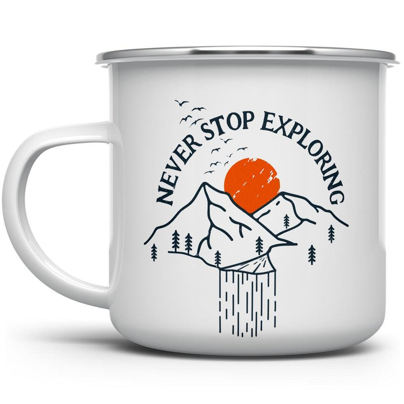 Never Stop Exploring Camp Mug - Loftipop