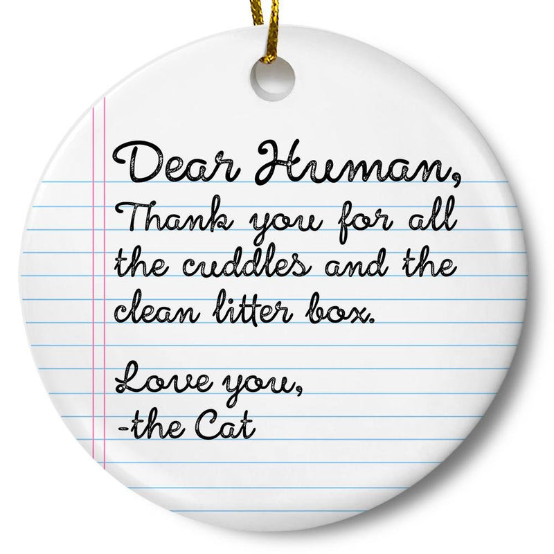 Note From Cat Ornament - Loftipop