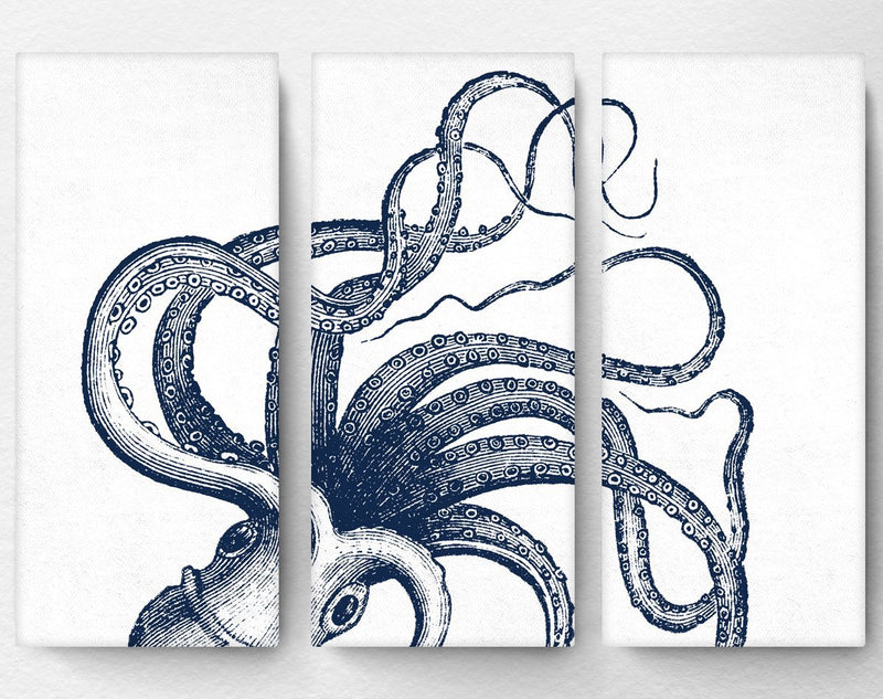 Octopus Tentacles Triptych Canvas - Loftipop