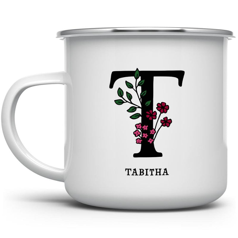 Personalized Name and Initial Camp Mug - Loftipop