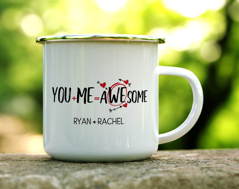 Personalized You + Me = Awesome Camp Mug - Loftipop