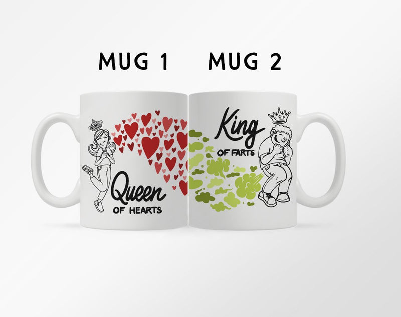 Queen of Hearts King of Farts Mug - Loftipop