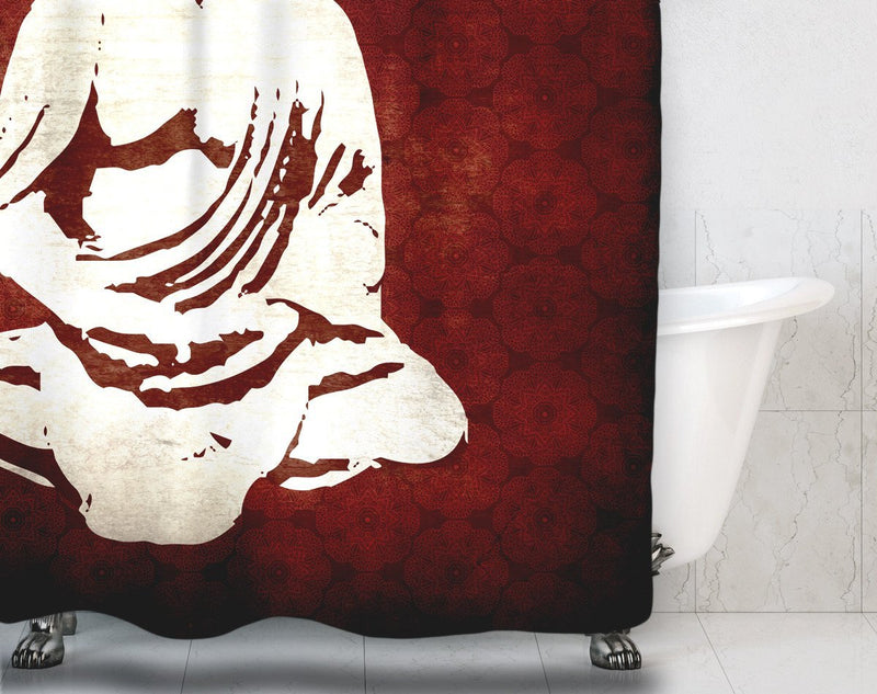 Red Buddha Shower Curtain - Loftipop