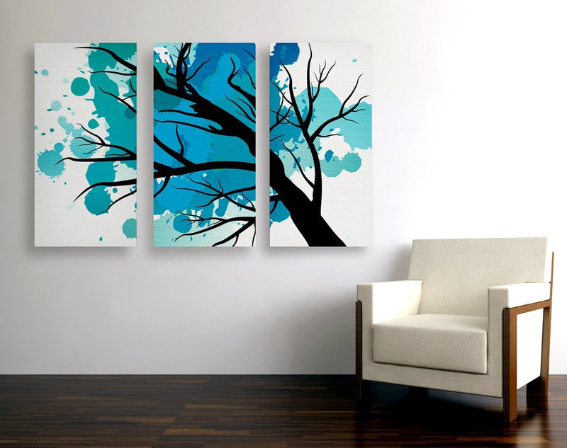 Splatter Tree Triptych Canvas - Loftipop