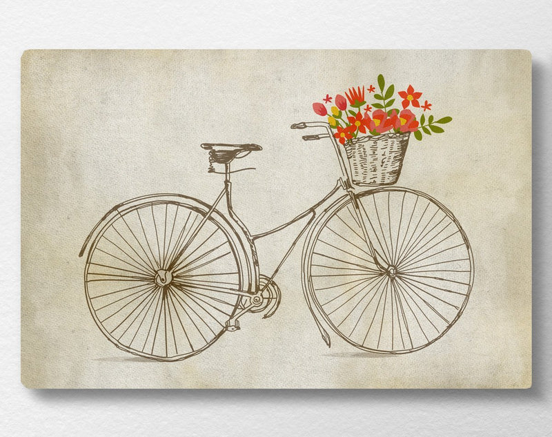 Spring Bicycle Canvas - Loftipop
