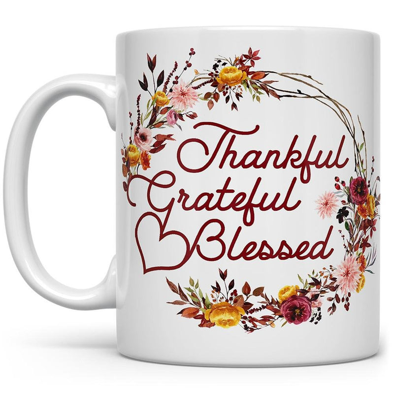 Thankful Grateful Blessed Mug - Loftipop