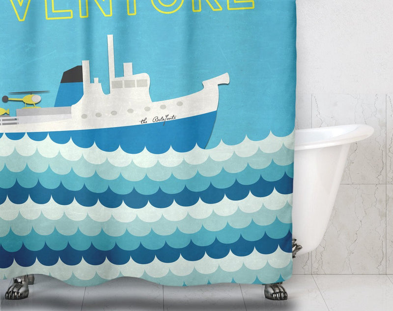 This is an Adventure Shower Curtain - Loftipop