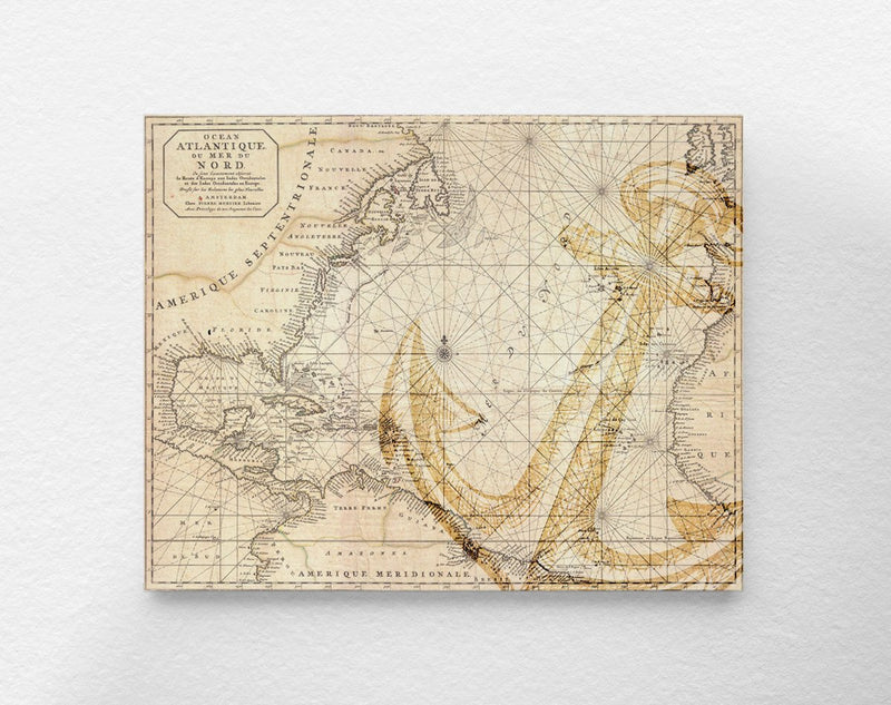 Vintage Nautical Map Art Print - Loftipop