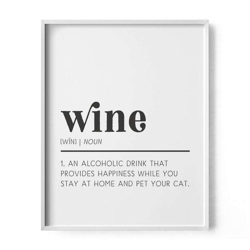 Wine Definition Art Print - Loftipop