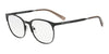 Exchange Armani AX1025 Irregular Eyeglasses  6000-BLACK 53-18-140 - Color Map black