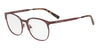 Exchange Armani AX1025 Irregular Eyeglasses  6001-MATTE BORDEAUX RUBY 53-18-140 - Color Map red