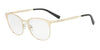 Exchange Armani AX1025 Irregular Eyeglasses  6026-MATTE PALE GOLD 53-18-140 - Color Map gold