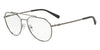 Exchange Armani AX1029 Irregular Eyeglasses  6088-MATTE GUNMETAL 57-17-145 - Color Map gunmetal