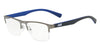 Exchange Armani AX1031 Rectangle Eyeglasses  6088-MATTE GUNMETAL 54-19-145 - Color Map gunmetal