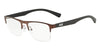 Exchange Armani AX1031 Rectangle Eyeglasses  6106-MATTE BRONZE 54-19-145 - Color Map bronze/copper