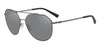 Exchange Armani AX2023S Irregular Sunglasses  60886G-MATTE GUNMETAL 59-14-140 - Color Map gunmetal