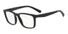 Exchange Armani AX3052F Rectangle Eyeglasses  8078-MATTE BLACK 55-18-140 - Color Map black
