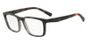 Exchange Armani AX3052F Rectangle Eyeglasses  8252-MATTE GREY HAVANA 55-18-140 - Color Map grey