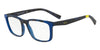 Exchange Armani AX3052F Rectangle Eyeglasses  8253-MATTE HAVANA BLUETTE 55-18-140 - Color Map blue