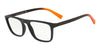 Exchange Armani AX3054F Rectangle Eyeglasses  8078-MATTE BLACK 55-19-140 - Color Map grey