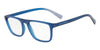 Exchange Armani AX3054F Rectangle Eyeglasses  8259-MATTE TRANSP NAVY 55-19-140 - Color Map grey