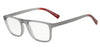 Exchange Armani AX3054F Rectangle Eyeglasses  8260-MATTE TRANSP SMOKE 55-19-140 - Color Map grey