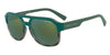 Exchange Armani AX4074SF Rectangle Sunglasses  82476R-MATTE GREY HAVANA/MT DK GREEN 59-17-145 - Color Map green