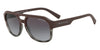 Exchange Armani AX4074SF Rectangle Sunglasses  82488G-MATTE GREY HAVANA/MATTE BORD 59-17-145 - Color Map bordeaux