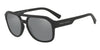 Exchange Armani AX4074S Rectangle Sunglasses  80786G-MATTE BLACK 57-18-140 - Color Map black