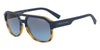 Exchange Armani AX4074S Rectangle Sunglasses  82468F-MATTE HAVANA/MATTE BLUE 57-18-140 - Color Map blue