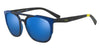 Exchange Armani AX4076SF Irregular Sunglasses  825380-MATTE BLUETTE HAVANA 56-19-140 - Color Map blue
