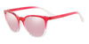 Exchange Armani AX4077S Pillow Sunglasses  82547V-TRANSPARENT PINK/CRYSTAL 55-20-140 - Color Map pink