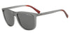 Exchange Armani AX4078SF Square Sunglasses  826081-MATTE TRANSPARENT SMOKE 56-18-145 - Color Map grey