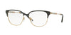 Burberry BE1313Q Square Eyeglasses  1237-BLACK/LIGHT GOLD 53-16-140 - Color Map black