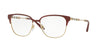 Burberry BE1313Q Square Eyeglasses  1238-BORDEAUX/LIGHT GOLD 53-16-140 - Color Map bordeaux