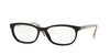 Burberry BE2180 Rectangle Eyeglasses  3507-BLACK 54-16-140 - Color Map black
