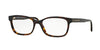 Burberry BE2201 Rectangle Eyeglasses  3002-DARK HAVANA 52-17-140 - Color Map havana