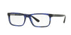 Burberry BE2240 Rectangle Eyeglasses  3626-BLUE HAVANA 55-18-145 - Color Map blue