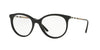 Burberry BE2244QF Round Eyeglasses  3001-BLACK 52-18-140 - Color Map black