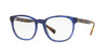 Burberry BE2247 Square Eyeglasses  3615-MATTE BLUE HAVANA 52-19-140 - Color Map blue