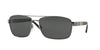 Burberry BE3081 Rectangle Sunglasses  100387-GUNMETAL 63-16-135 - Color Map gunmetal