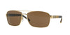 Burberry BE3081 Rectangle Sunglasses  101773-GOLD 63-16-135 - Color Map gold