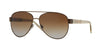 Burberry BE3084 Pilot Sunglasses  1212T5-BRUSHED BROWN 57-14-140 - Color Map brown