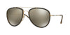 Burberry BE3090Q Pilot Sunglasses  10525A-BRUSHED GOLD/MT DARK HAVANA 58-18-145 - Color Map gold