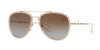 Burberry BE3090Q Pilot Sunglasses  1246T5-BRUSHED GOLD/PINK 58-18-145 - Color Map gold