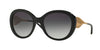 Burberry BE4191 Round Sunglasses  30018G-BLACK 57-21-135 - Color Map black
