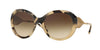 Burberry BE4191 Round Sunglasses  350113-LIGHT HORN 57-21-135 - Color Map light brown