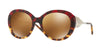 Burberry BE4191 Round Sunglasses  36646H-RED HAVANA/LIGHT HAVANA 57-21-135 - Color Map red