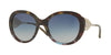 Burberry BE4191 Round Sunglasses  36654L-GREEN HAVANA/BLUE HAVANA 57-21-135 - Color Map green
