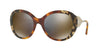 Burberry BE4191 Round Sunglasses  36674T-HAVANA GREY/BROWN/GREY 57-21-135 - Color Map grey